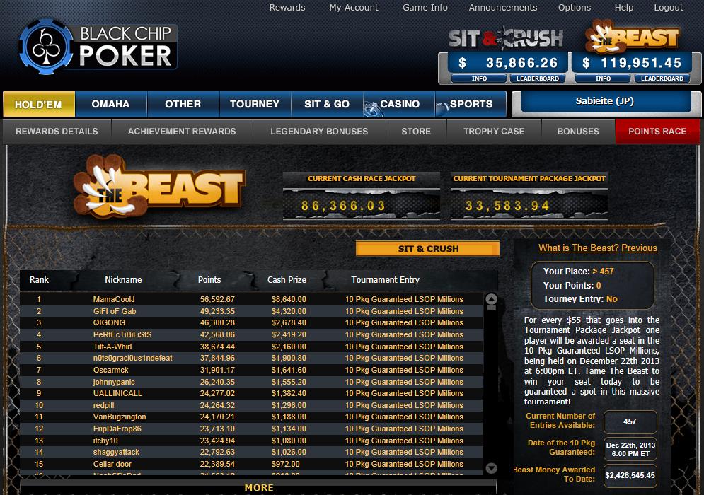 Rake poker sites