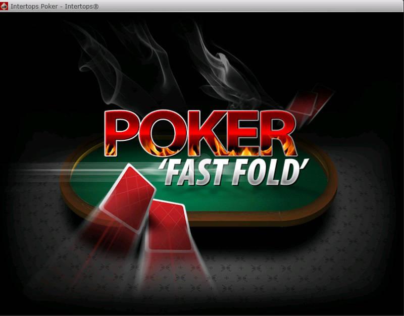 Fast Fold Speed Poker Intertops Splash Screen Logo